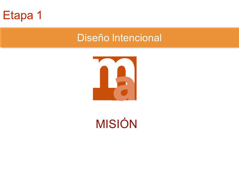 DISEÑO INTENCIONAL MISIÓN Diseño Intencional Etapa 1