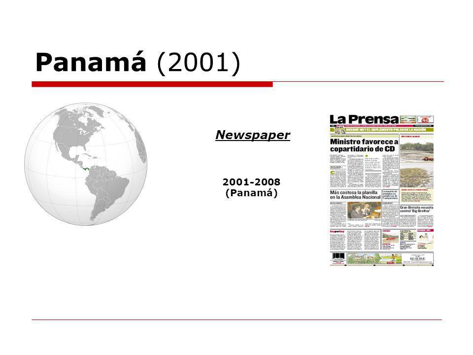Panamá (2001) Newspaper 2001-2008 (Panamá)
