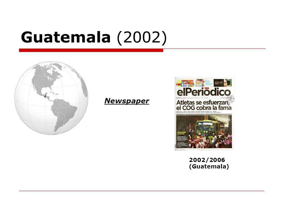 Guatemala (2002) Newspaper 2002/2006 (Guatemala)