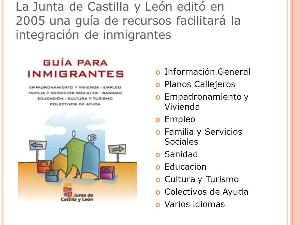 La Junta de Castilla y León editó en 2005 una guía de recursos facilitará la integración de inmigrantes Información General Planos Callejeros Empadron