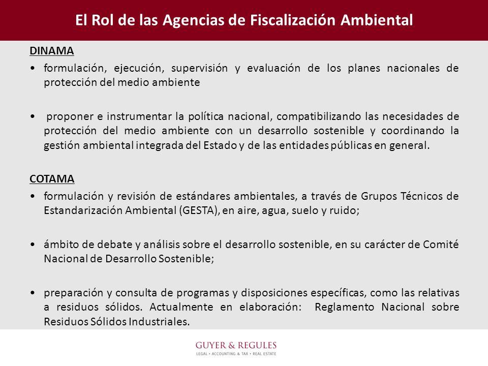 El Rol de las Agencias de Fiscalización Ambiental DINAMA formulación, ejecución, supervisión y evaluación de los planes nacionales de protección del m