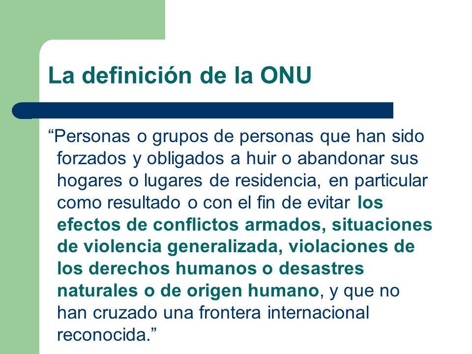 ¿Quién es un desplazado interno?