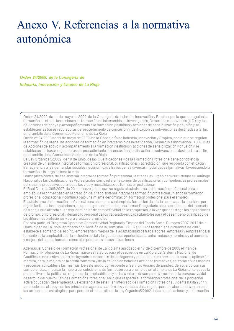 54 Orden 24/2009, de la Consejería de Industria, Innovación y Empleo de La Rioja Orden 24/2009, de 11 de mayo de 2009, de la Consejería de Industria,