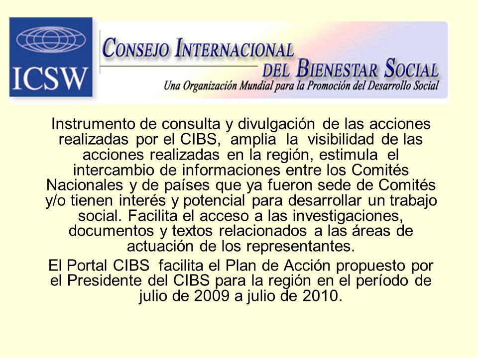 Instrumento de consulta y divulgación de las acciones realizadas por el CIBS, amplia la visibilidad de las acciones realizadas en la región, estimula