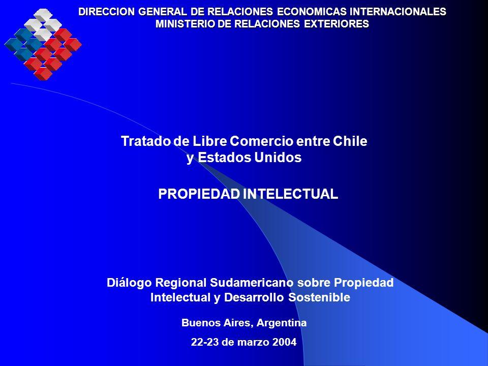 DIRECCION GENERAL DE RELACIONES ECONOMICAS INTERNACIONALES MINISTERIO DE RELACIONES EXTERIORES Diálogo Regional Sudamericano sobre Propiedad Intelectu