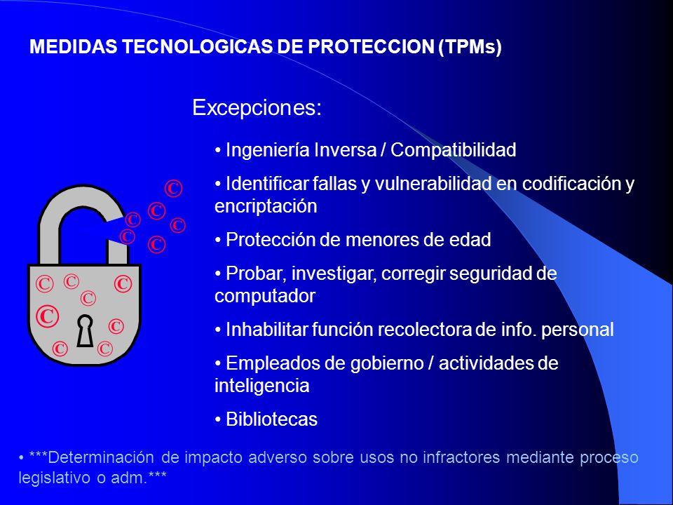 ©© © © © ©© © Ingeniería Inversa / Compatibilidad Identificar fallas y vulnerabilidad en codificación y encriptación Protección de menores de edad Pro