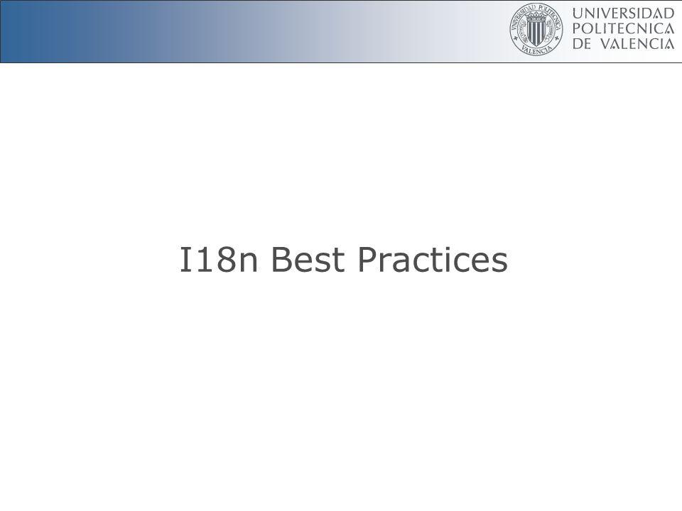 I18n Best Practices