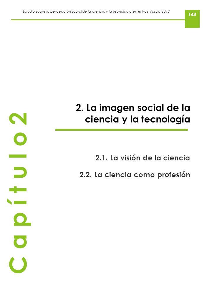 Estudio sobre la percepción social de la ciencia y la tecnología en el País Vasco 2012 2. La imagen social de la ciencia y la tecnología 2.1. La visió