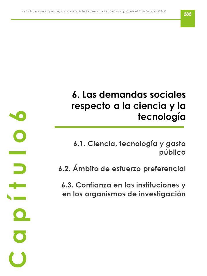 Estudio sobre la percepción social de la ciencia y la tecnología en el País Vasco 2012 6. Las demandas sociales respecto a la ciencia y la tecnología