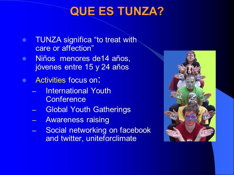 TUNZA ACTIVITIES International Childrens conference Tunza International Childrens Conference in Nagoya, Japan Sensitizes children to environmental issues e.g.