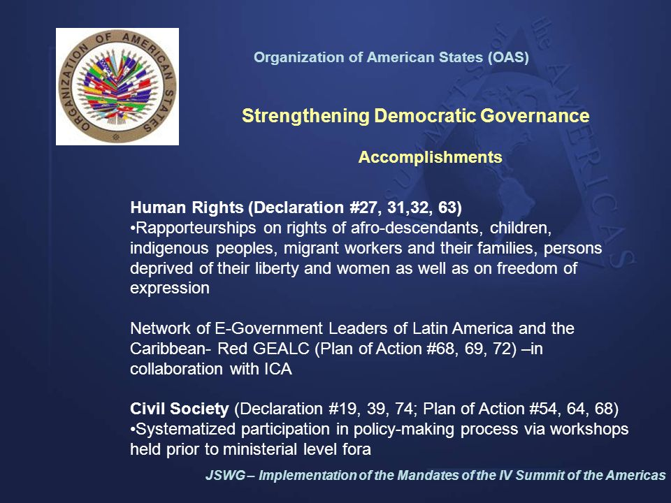 Organization of American States (OAS) 7th Conference of Ministers of Defense of the Americas, Managua, Nicaragua, Oct.