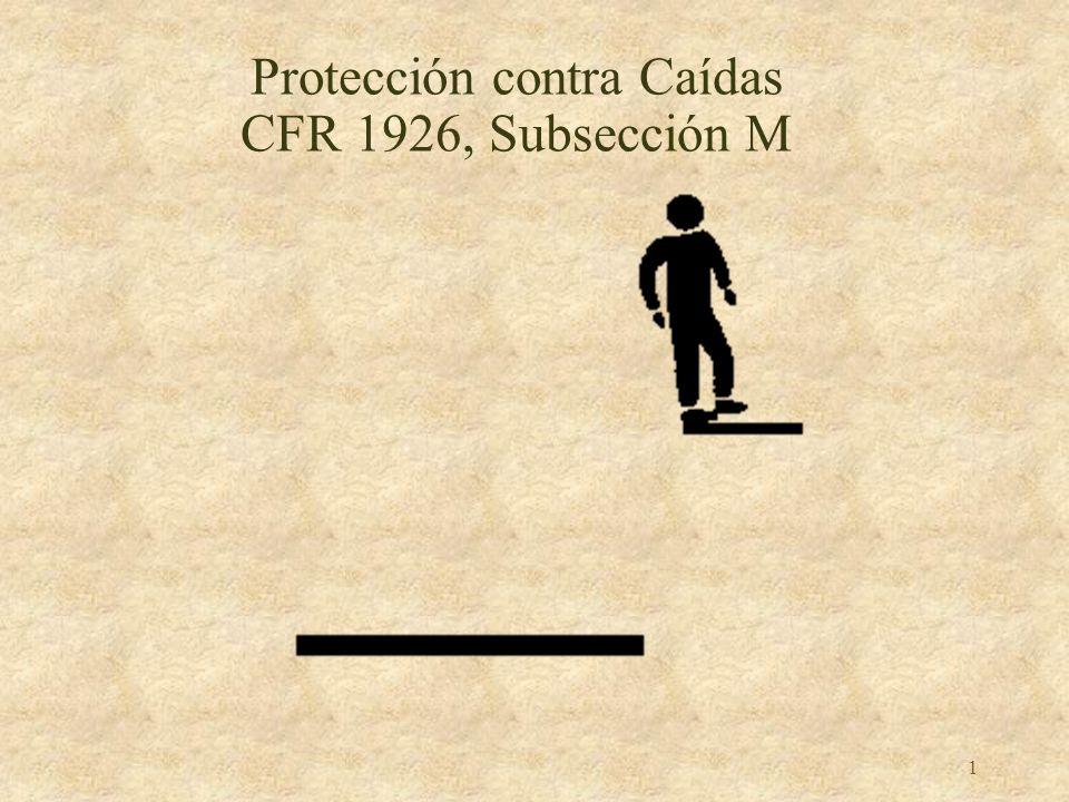 1 Protección contra Caídas CFR 1926, Subsección M