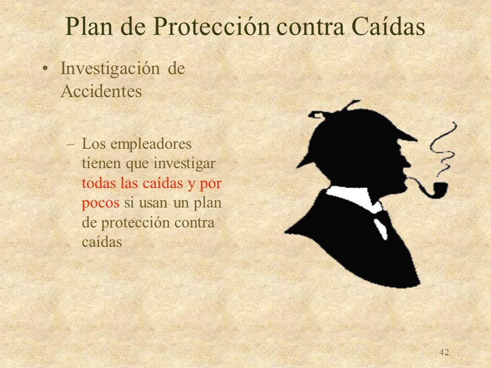 41 Plan de Protección contra Caídas El empleador tiene que designar el área como zona de acceso controlado y tener un sistema de monitoreo al serlo ne