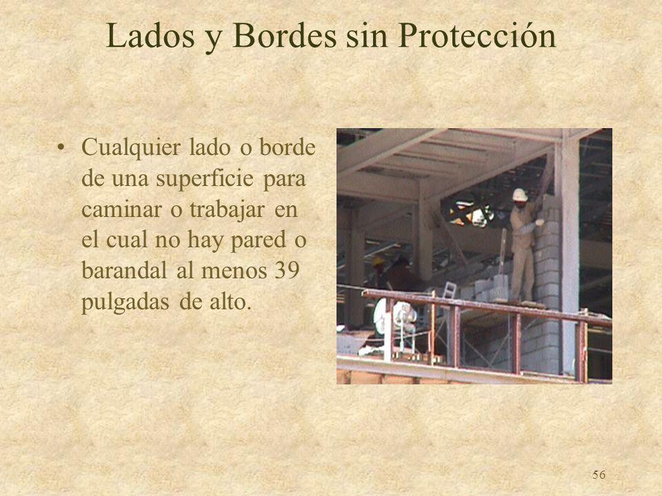 55 Es Obligatoria la Protección contra Caidas 1926.501 –Altura crítica de la OSHA: 6 pies 6 pies o más