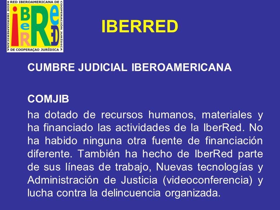 IBERRED COMISIÓN EUROPEA Estudio en Cooperación judicial, asistencia legal mutual y extradición de traficantes de drogas y otros imputados de delitos relacionados con drogas, entre la Unión Europea y sus Estados Miembros y los países de América Latina y el Caribe.