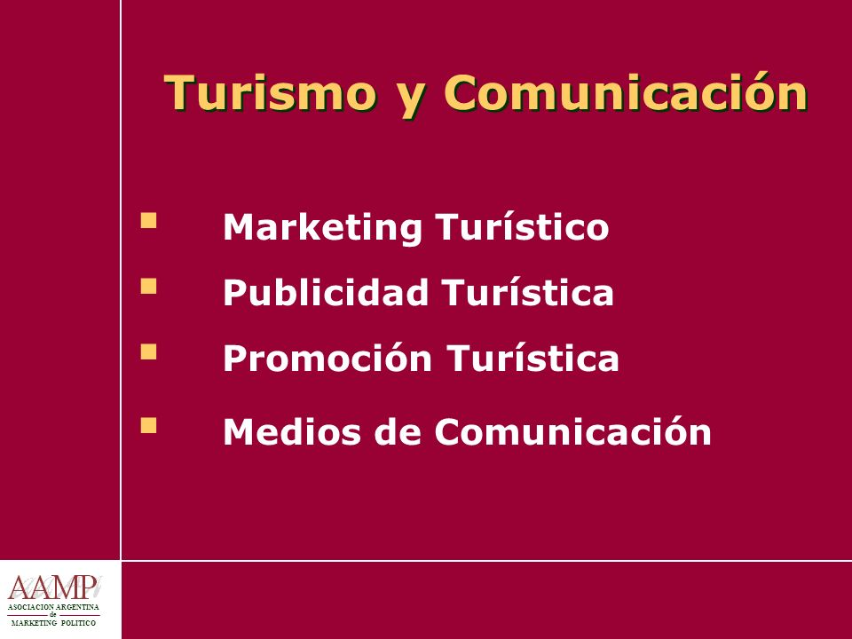 ASOCIACION ARGENTINA de MARKETING POLITICO Herramientas de Anticipación Ejercicios de simulación: prueba de dispositivos logísticos, juegos de rol y escenarios Media training: formación de portavoces