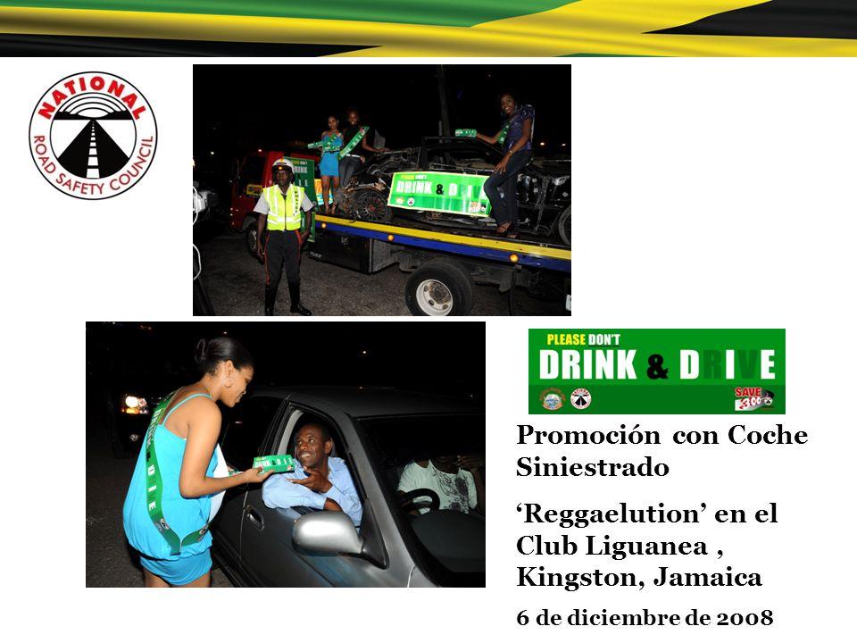 Promoción con Coche Siniestrado Reggaelution en el Club Liguanea, Kingston, Jamaica 6 de diciembre de 2008