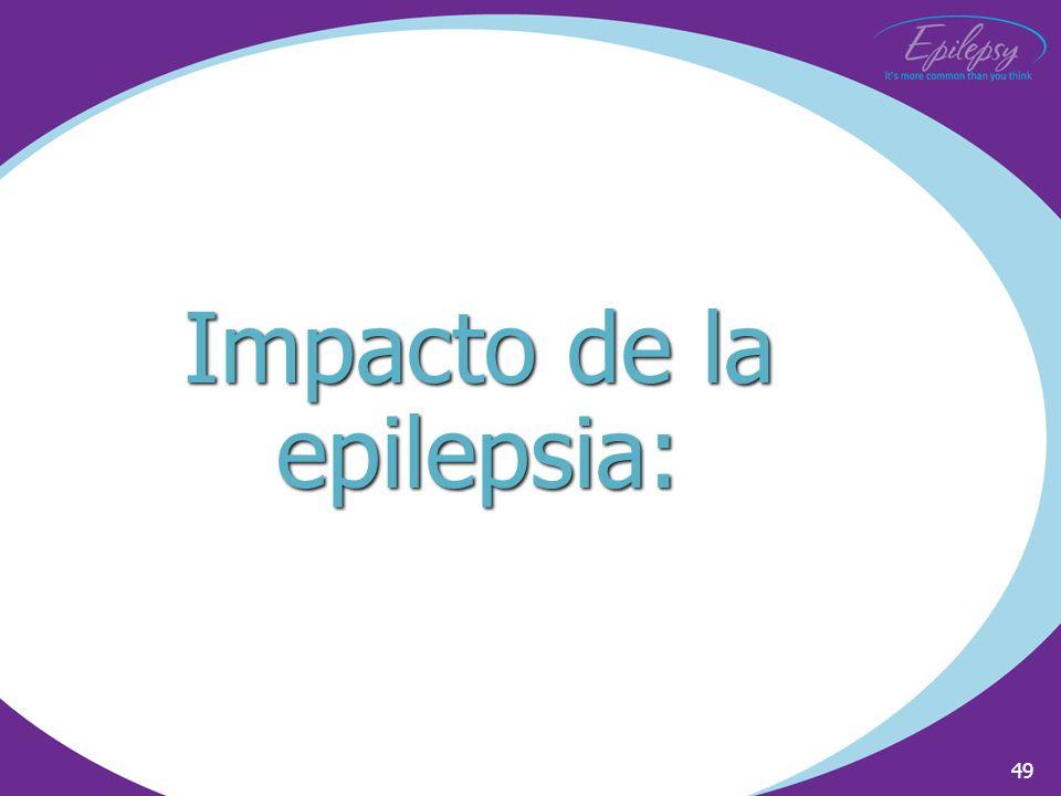 49 Impacto de la epilepsia: