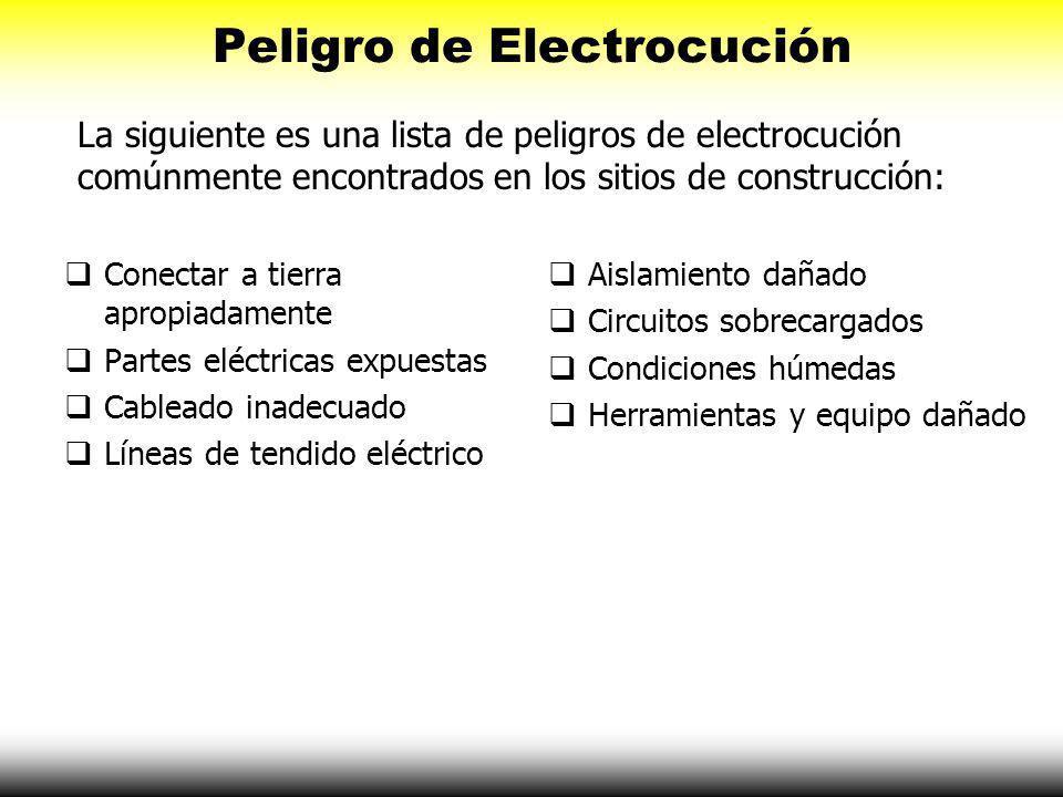 Como Trabaja la Electricidad Sin embargo, si se daña la herramienta la persona puede hacer contacto con la electricidad y puede volverse una trayector