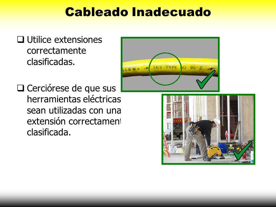 Partes Eléctricas Expuestas En los sitios de construcción, la iluminación temporal se debe resguardar y proteger adecuadamente para evitar el contacto