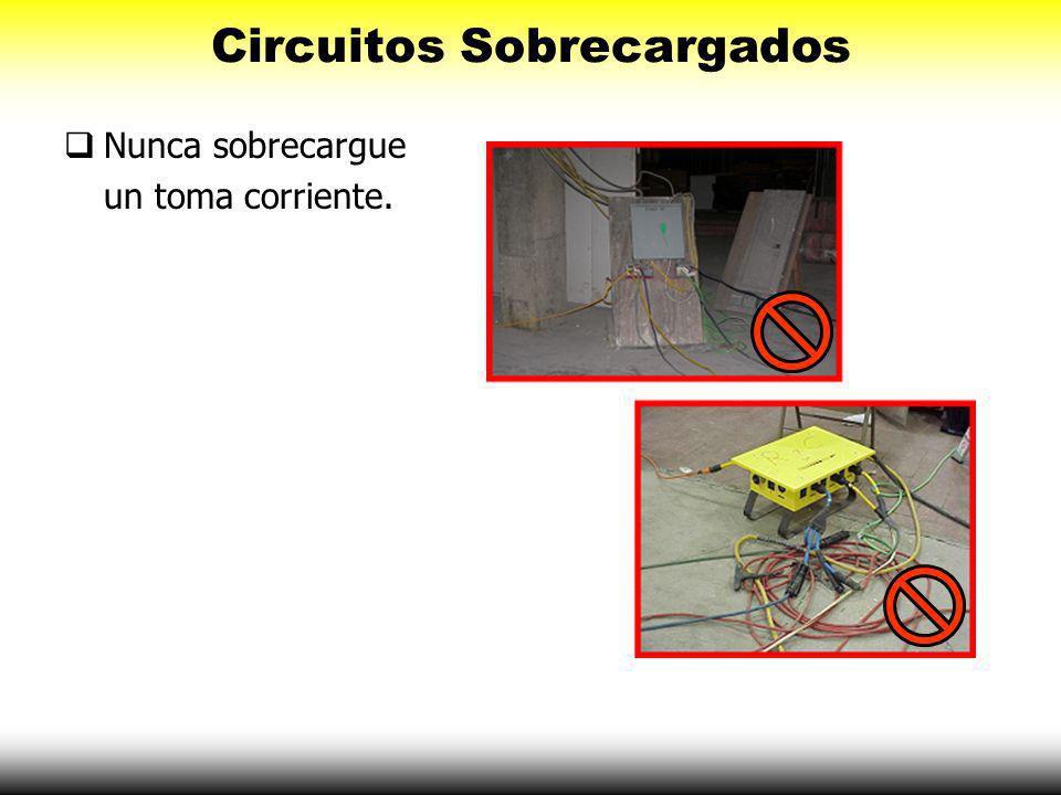 Circuitos Sobrecargados Los circuitos sobrecargados pueden causar un incendio. Utilizar interruptores de circuitos apropiados.