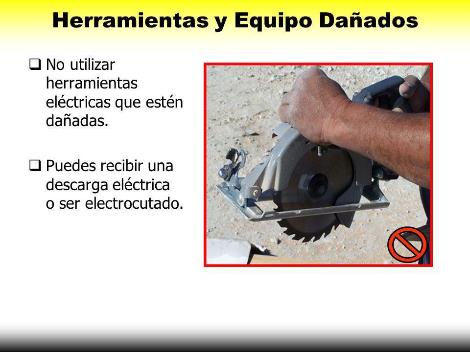 Circuitos Sobrecargados No utilice correas eléctricas o protectores múltiple-enchufe en los sitios de construcción. En su lugar utilice una extensión