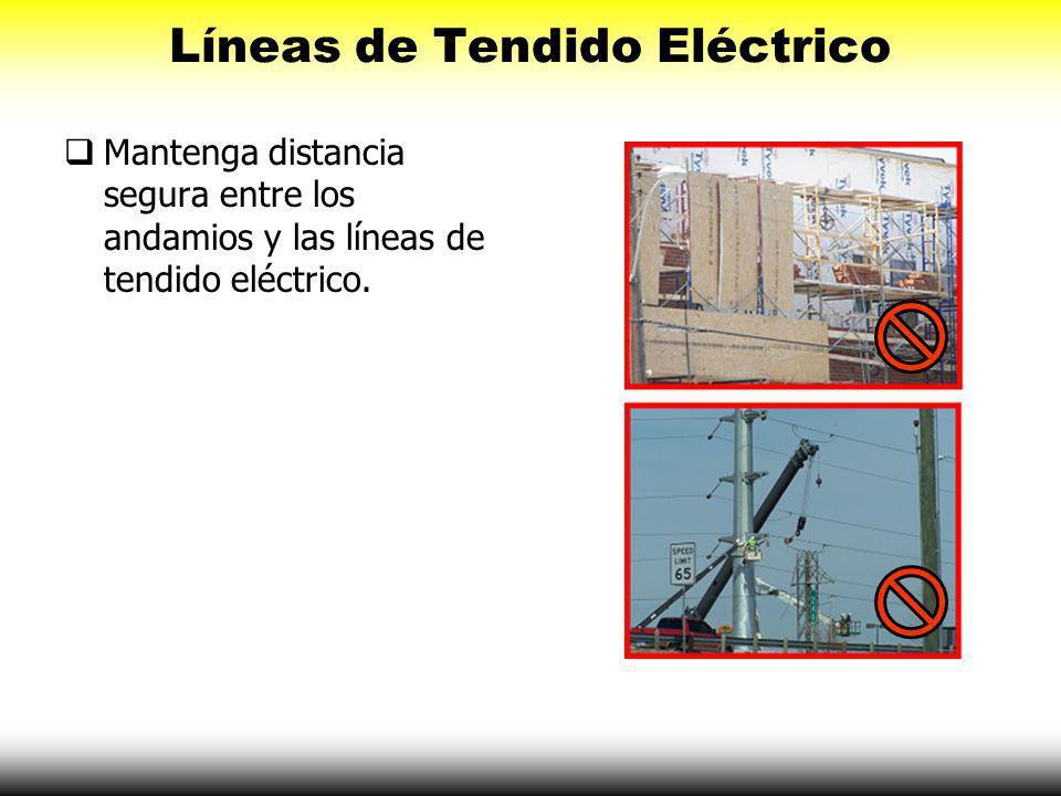 Líneas de Tendido Eléctrico Mantenga una distancia de por lo menos 10 pies entre herramientas- equipo y las líneas de tendido eléctrico. Los Choques y