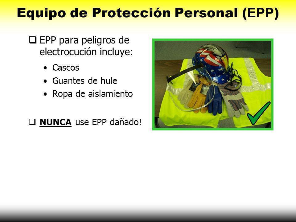 Prevención de Accidentes Siempre considere estas medidas de seguridad: Equipo de protección personal (EPP), Inspeccionar herramientas, Interruptores d