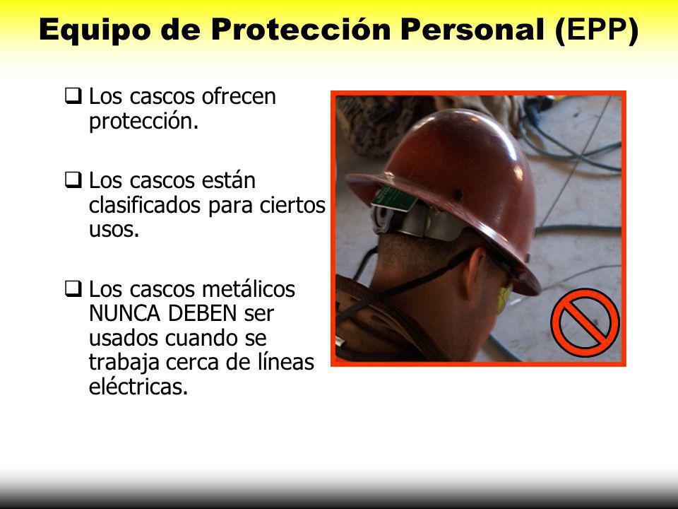 Equipo de Protección Personal (EPP) Use guantes de hule que están apropiadamente aislados. Asegúrese que los guantes queden a la medida. Asegúrese que