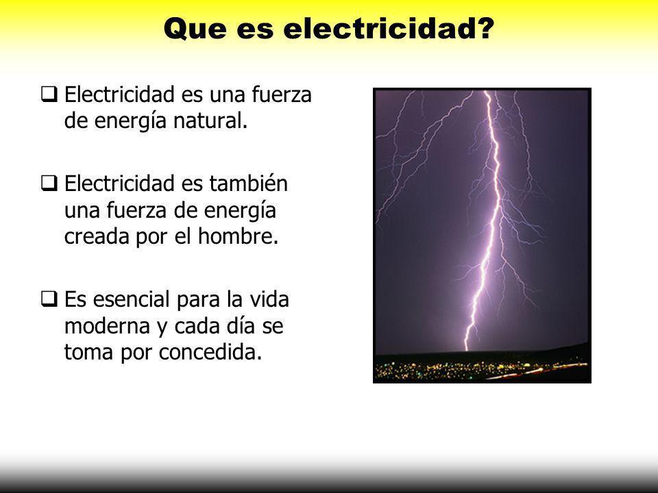 Que es electricidad.Electricidad es una fuerza de energía natural.