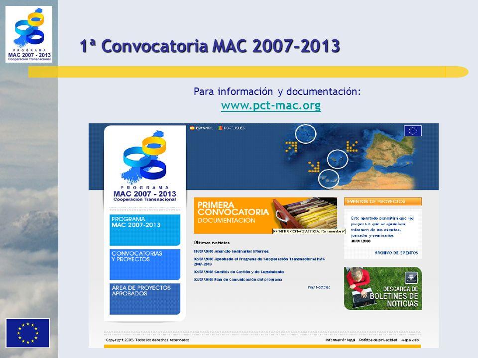 Para información y documentación: www.pct-mac.org