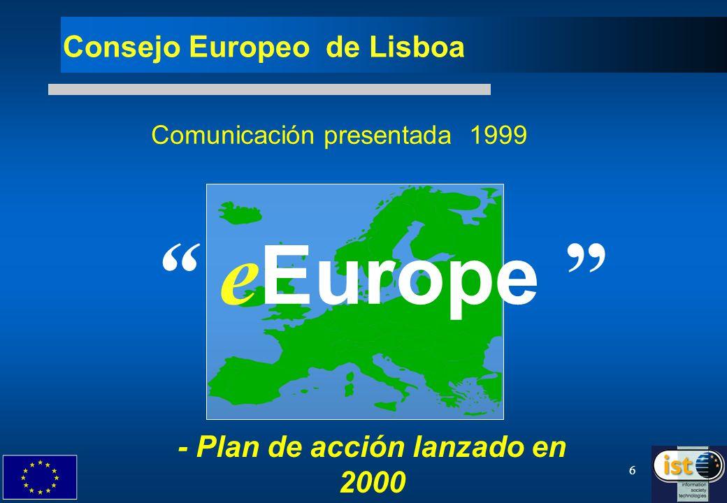 7 e Europe e Europe : 3 objetivos principales 1.
