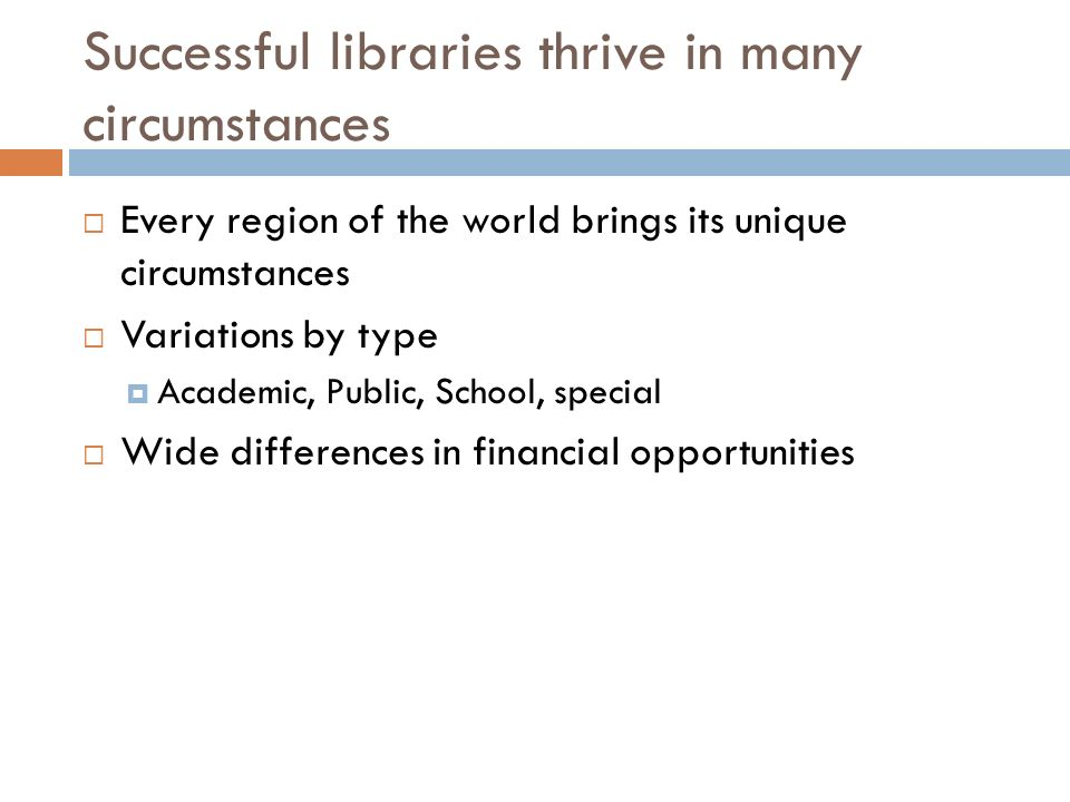 Rethinking library automation Fundamental assumption: Print + Electronic + Digital Traditional print-dominant ILS model not adequate for current and future library realities Libraries currently involved with a core ILS surrounded by additional modules to handle electronic content New discovery layer interfaces replacing or supplementing ILS OPACS Cloud technologies offer potential for new levels of efficiency and cooperation It s Time to Break the Mold of the Original ILS Computers in Libraries Nov/Dec 2007