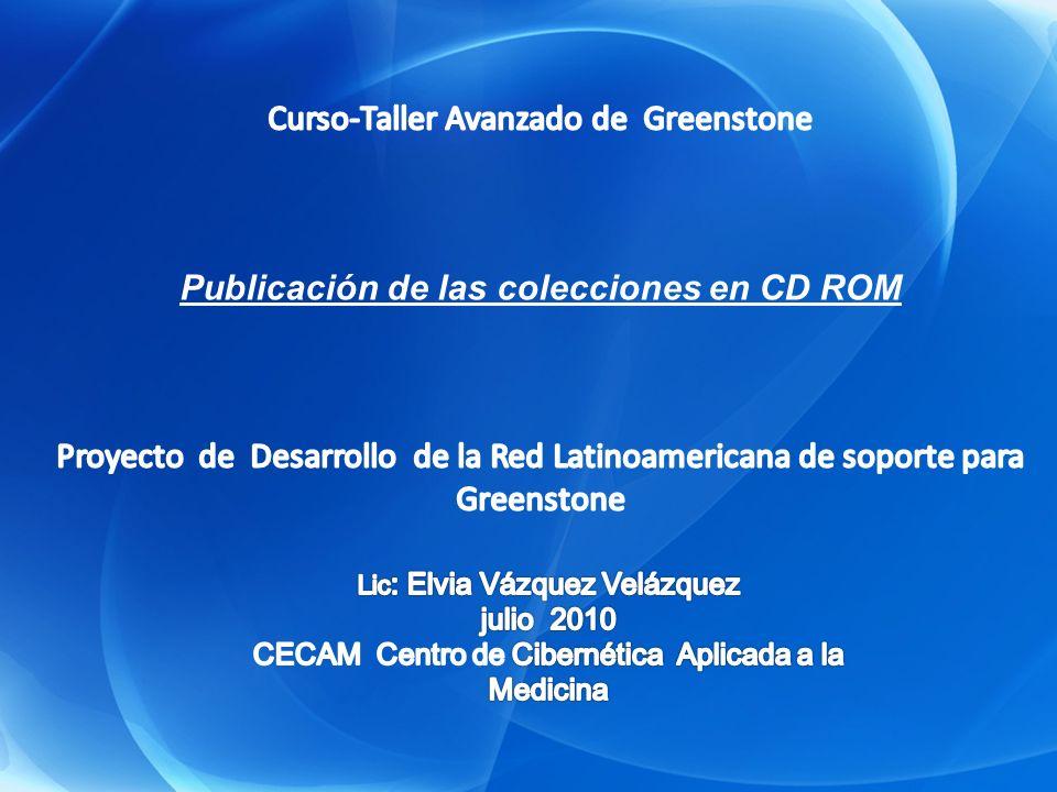 La colección exportada a CD-ROM se encuentra en la carpeta tmp de Greenstone Publicación de las colecciones en CD ROM