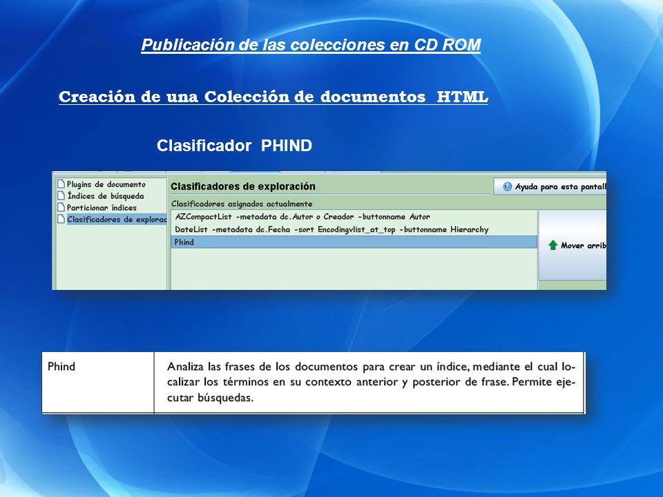 Publicación de las colecciones en CD ROM [link][icon][/link] [link][Title][/link] :Es el elemento de inicio de una columna.