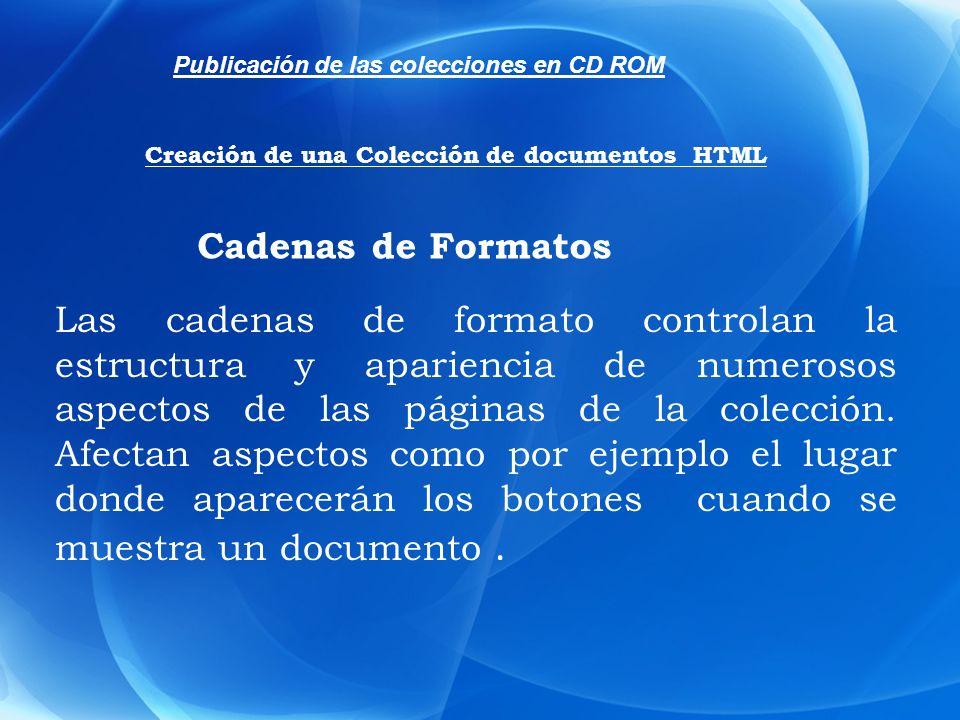 Los formatos se definen mediante una cadena de caracteres en la que se combinan: funciones, componentes, variables y código HTML.