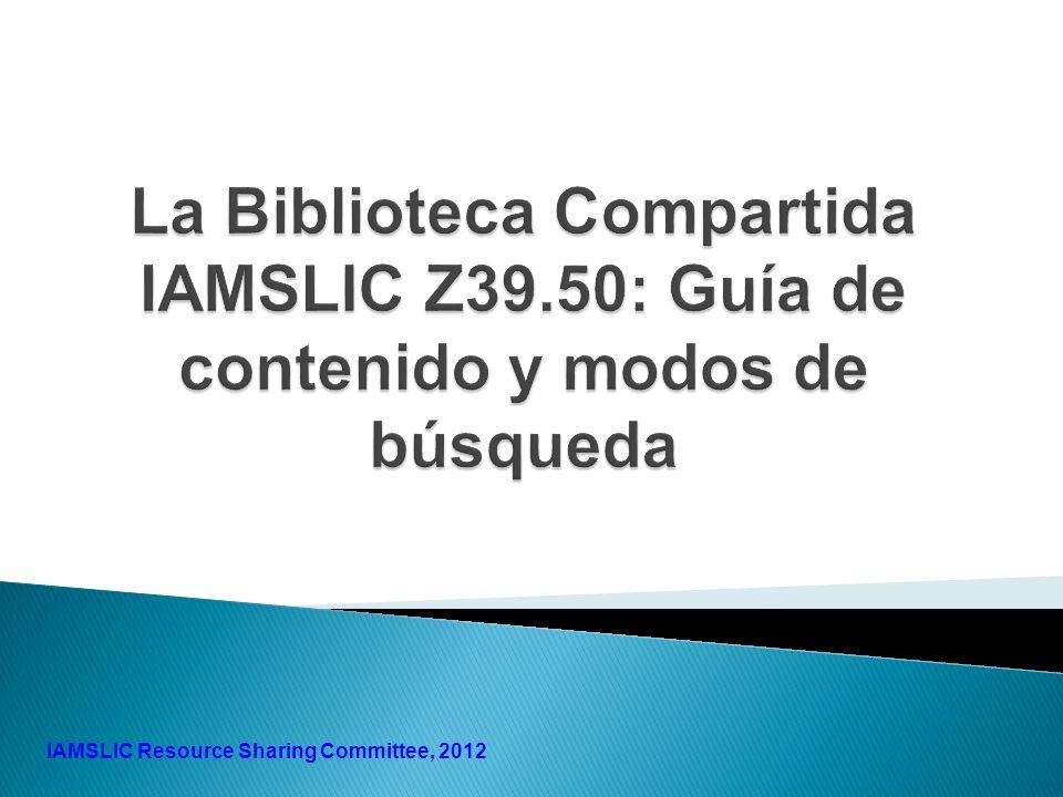 1 IAMSLIC Resource Sharing Committee, 2012