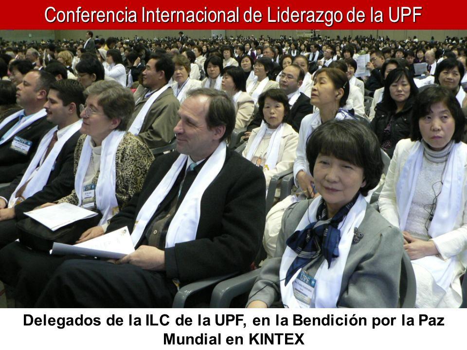 Conferencia Internacional de Liderazgo de la UPF Delegados de la ILC de la UPF, en la Bendición por la Paz Mundial en KINTEX
