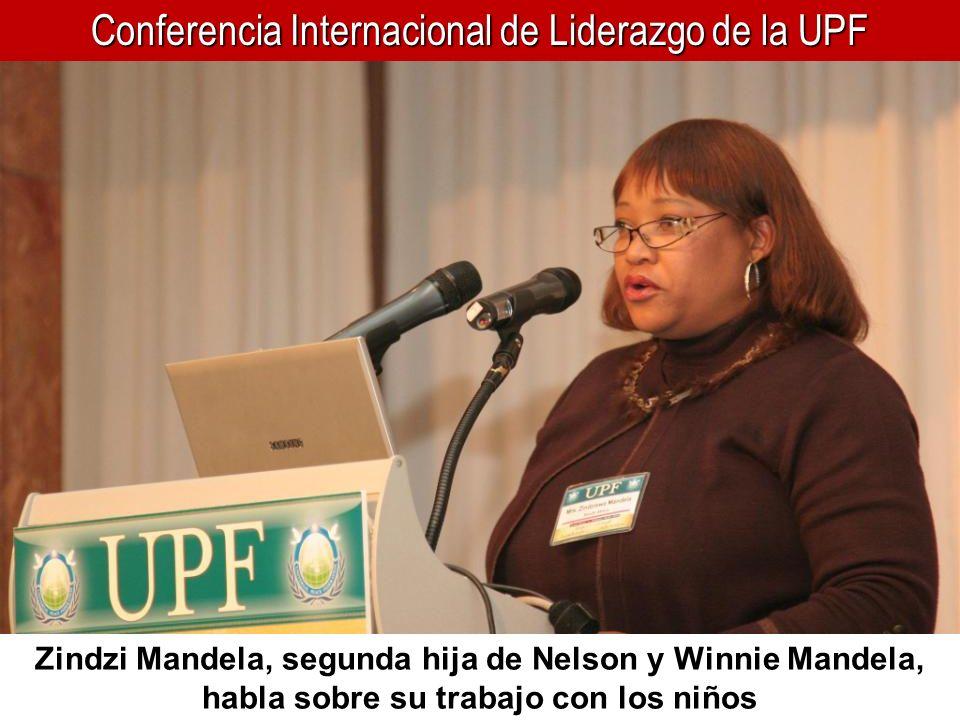 Conferencia Internacional de Liderazgo de la UPF Zindzi Mandela, segunda hija de Nelson y Winnie Mandela, habla sobre su trabajo con los niños