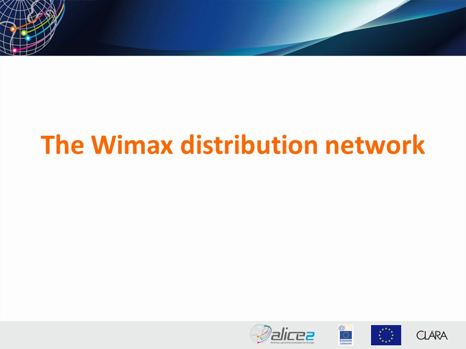 The Wimax distribution network 31
