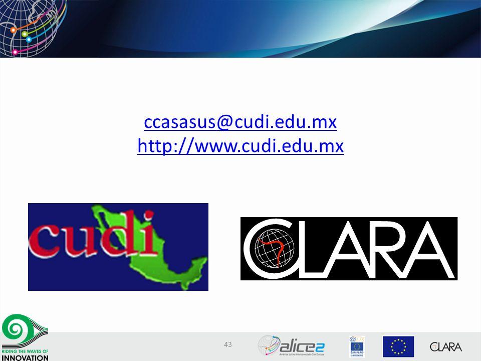 ccasasus@cudi.edu.mx http://www.cudi.edu.mx@cudi.edu.mx http://www.cudi.edu.mx 43