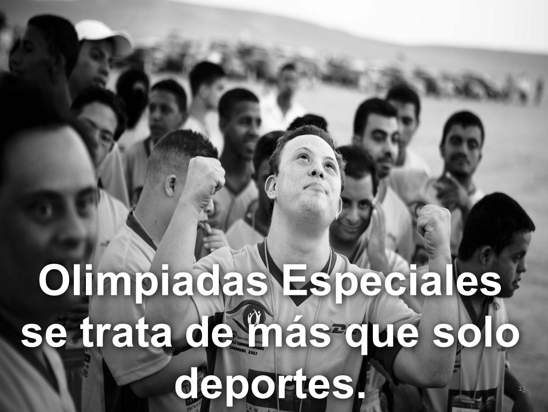 Special Olympics 13 Olimpiadas Especiales se trata de más que solo deportes.