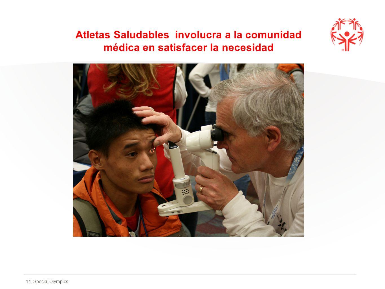 Special Olympics Atletas Saludables involucra a la comunidad médica en satisfacer la necesidad 14