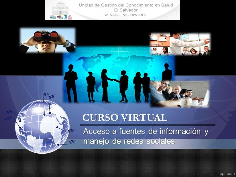CURSO VIRTUAL Acceso a fuentes de información y manejo de redes sociales