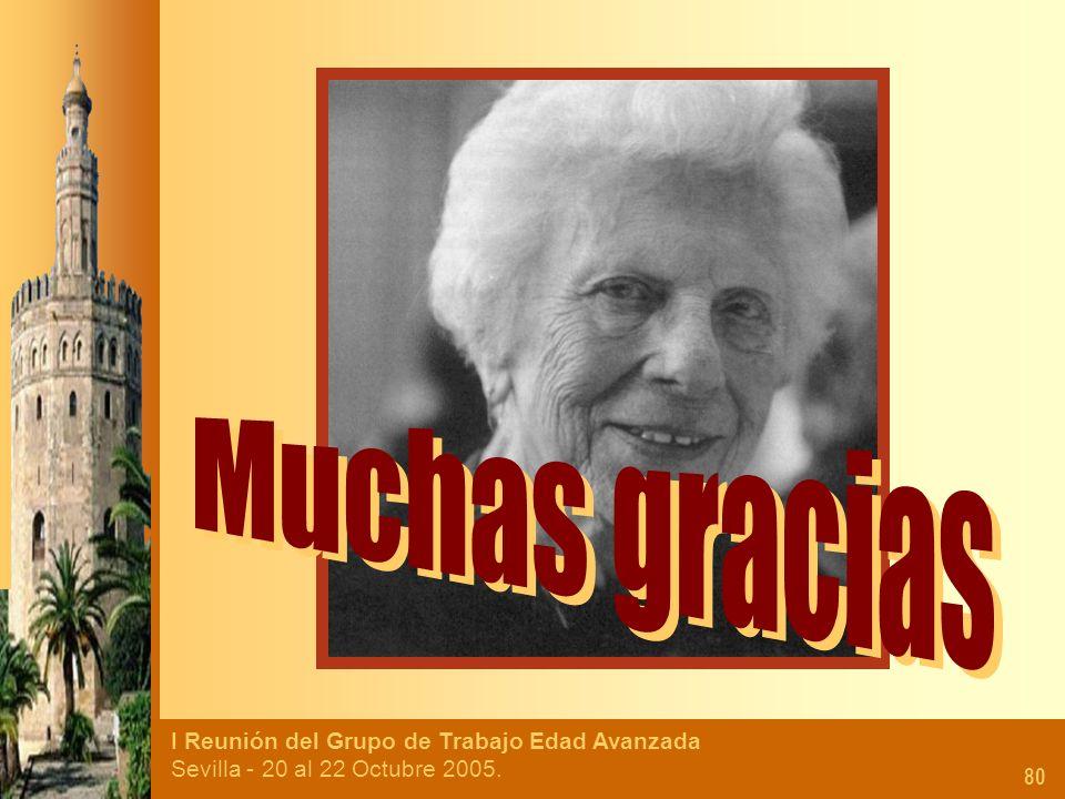I Reunión del Grupo de Trabajo Edad Avanzada Sevilla - 20 al 22 Octubre 2005. 80