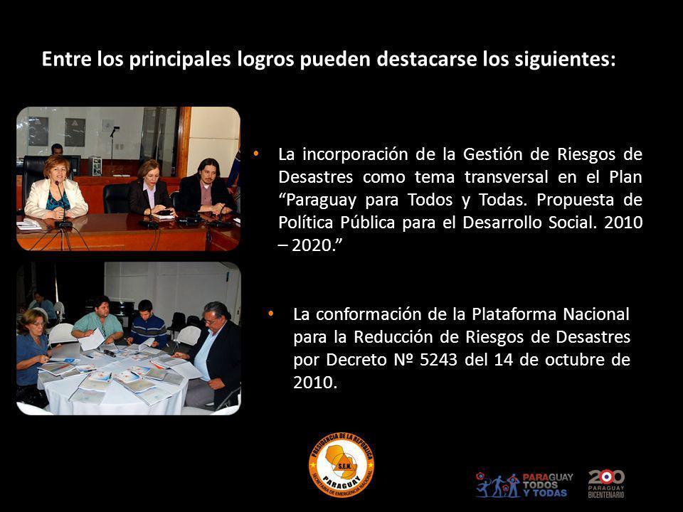 La incorporación de la Gestión de Riesgos de Desastres como tema transversal en el Plan Paraguay para Todos y Todas. Propuesta de Política Pública par