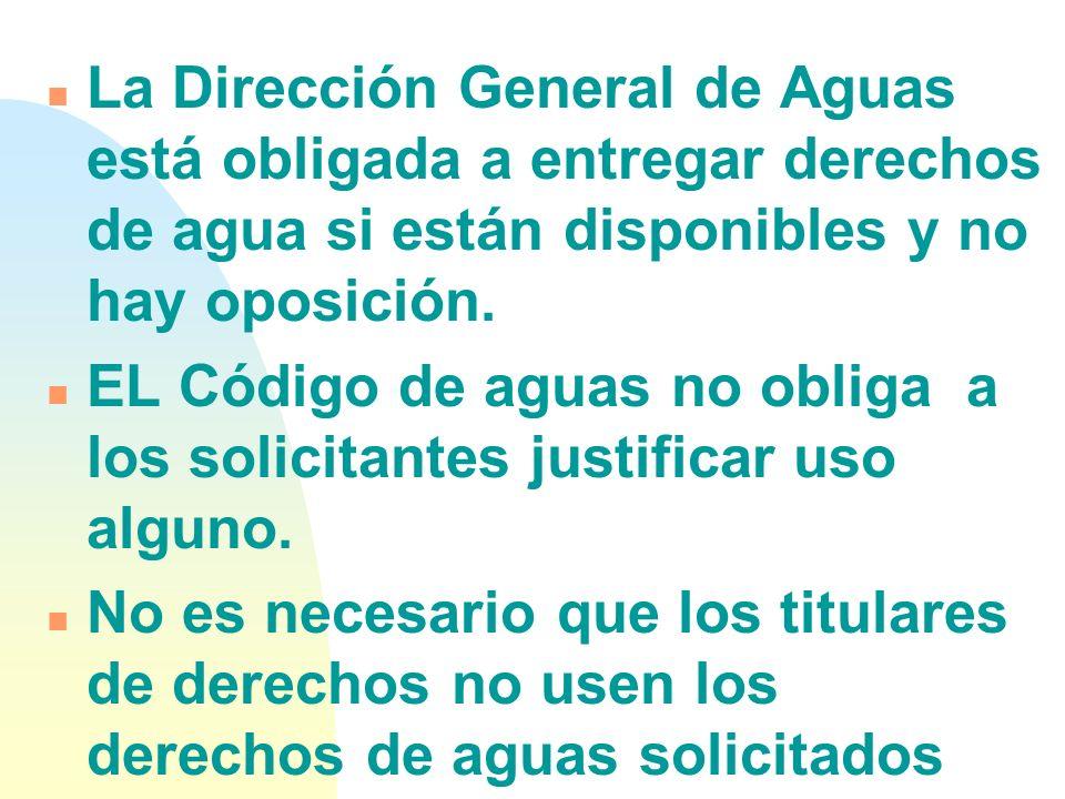 n Por ejemplo: un Código de Aguas como el de Chile, que no niega la importancia del medio ambiente, sustenta su racionalidad en posiciones netamente t