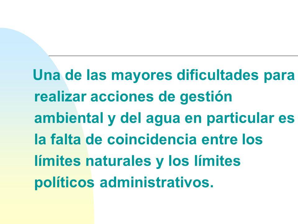Conflictos de gobernabilidad ambiental sobre territorios naturales delimitados por razones político-administrativas