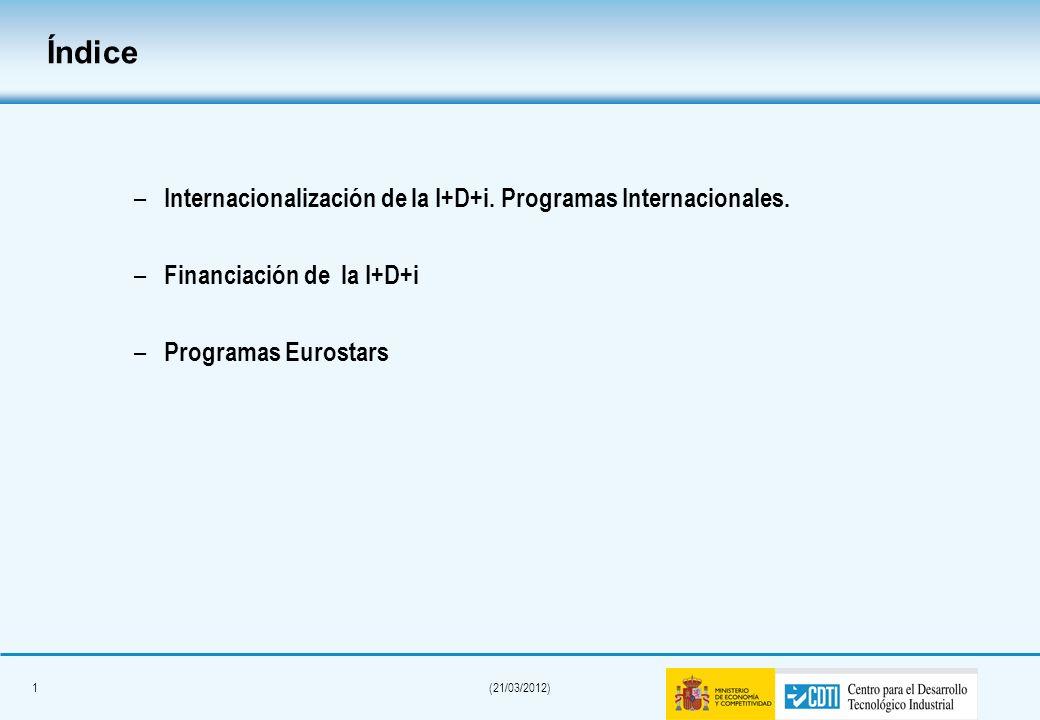 31(21/03/2012) Gestionado por CDTI Subprograma INTEREMPRESAS INTERNACIONAL (Orden de Bases publicada el 13 de junio de 2009) Ayudas en forma de subvención para empresas OPIS y Centros tecnológicos subcontratados (máx.