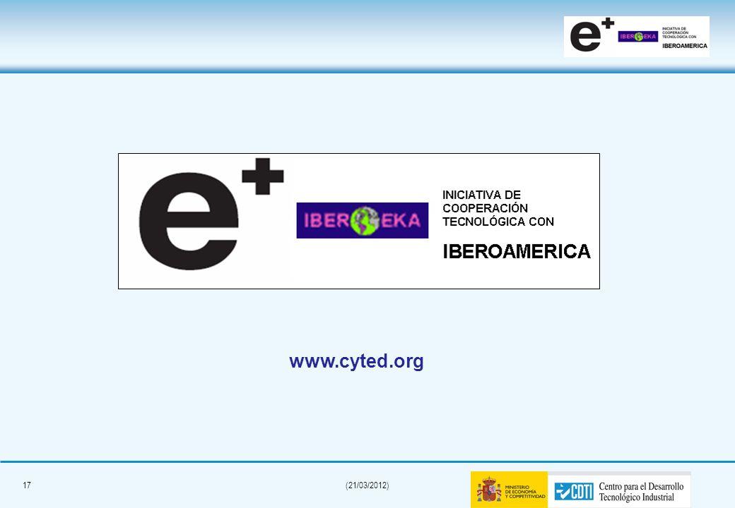 16(21/03/2012) Information website > www.eurekanetwork.org